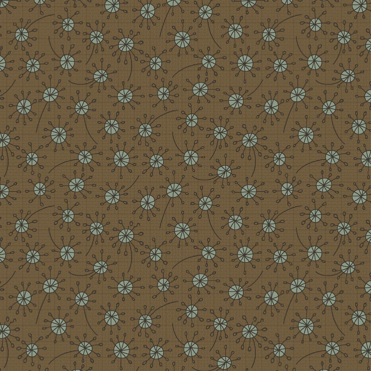 Brown Quilting Fabric Per 1//4 Metre 4703-476 Henry Glass Garden Whimsey