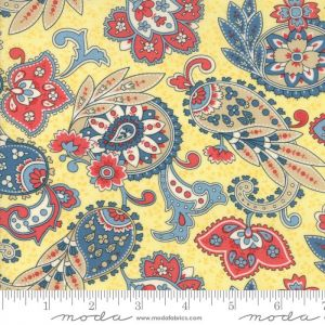 Moda Anns Arbor Paisley Yellow Quilting Fabric