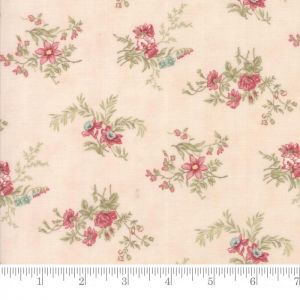 Moda Poetry Prints Delicate Sprays Blush Quilting Fabric