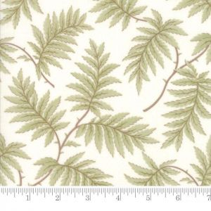 Moda Poetry Prints Ferns Porcelain Quilting Fabric