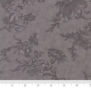 Small Image of Moda Fabric Poetry Prints Romantic Blooms Tonal Charcoal