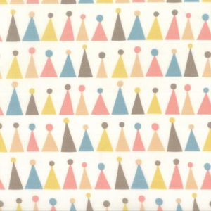 Small Image of Moda Fabric Corner Of 5th And Fun Printed Cotton Hats Ivory