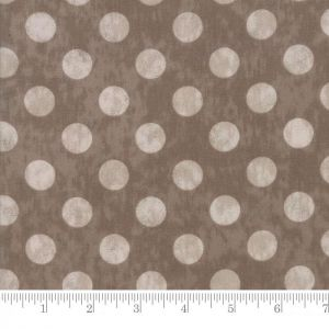 Moda Maven Large Dots Taupe Quilting Fabric