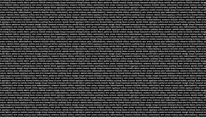 Small Image of Makower Fabric Monochrome Text  Black And White