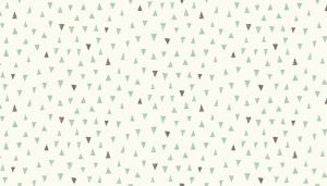 Small Image of Makower Fabric Doodle Days Triangles Turquoise