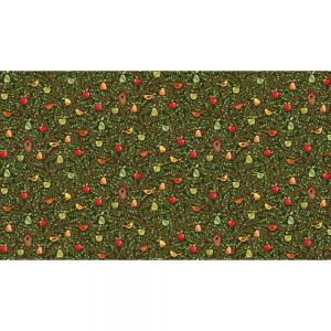 Large Image of Makower Patchwork Fabric The Good Fruitful Tree Green
