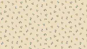 Makower Patchwork Fabric Bloom Floral Scatter Cream