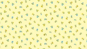 Makower Patchwork Fabric Bloom Floral Scattter Yellow