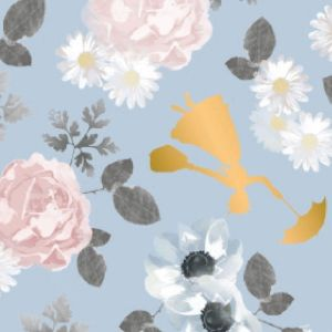 Mary Poppins Blossom in Blue Quilting Fabric
