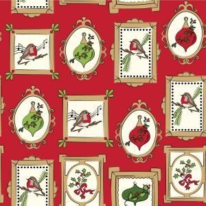 Deck the Halls Frames Quilting Fabric