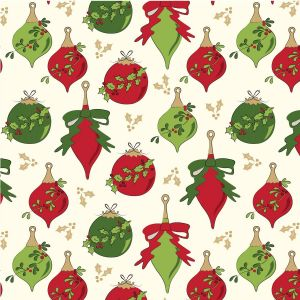 Deck the Halls Bauble Quilting Fabric