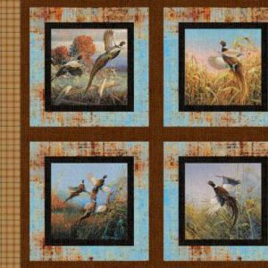 Small Image of Timeless Treasures Patchwork Fabric Paw Prints Bright