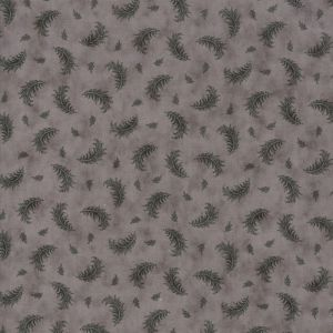 Moda Quill Plumes Feather Grey Quilting Fabric