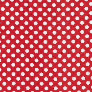 Nutex Whimsical Wheels Spot Red Fabric