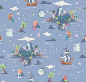 Small Image of Riley Blake Fabric Neverland Island Periwinkle