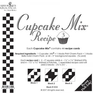 Small Image of Cupcake Mix Recipe 3 By Miss Rosies Quilt Co For Moda