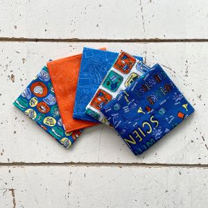 Modern Natural History Museum Scientist Fat Quarter Pack