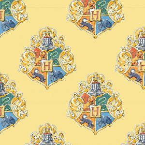 Harry Potter Crest Watercolour Yellow