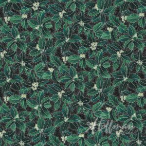 Base Image of Hoffman Winter Blossom Green Quilting Fabric 3298-918