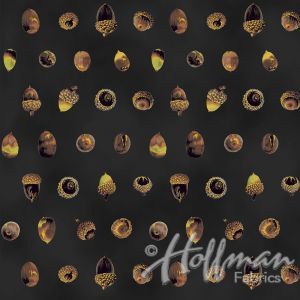 Base Image of Hoffman Can't Stop Falling Black Quilting Fabric 3902-592