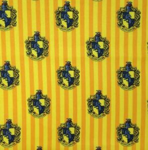 Harry Potter Hufflepuff House Quilting Fabric