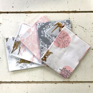 Bambi Pink Fat Quarter Pack Fanned
