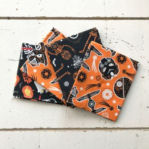 Star Wars Black and Orange Fat Quarter Pack Swatches
