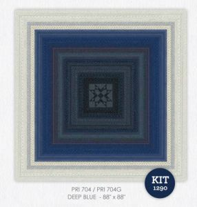 Indigo Gatherings Quilt Kit by Primitive Gatherings For Moda
