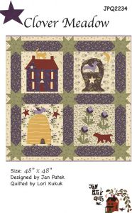 Clover Meadow Quilt Pattern 48 x 48 Inches