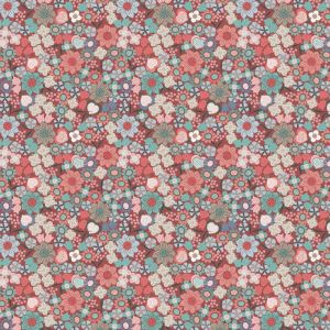 Lewis and Irene Michaelmas Multi Floral Soft Red