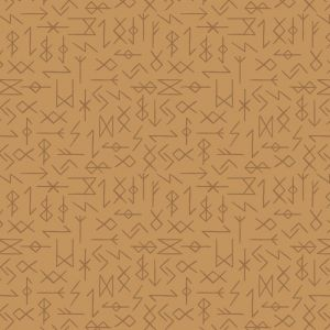 Lewis and Irene Viking Adventure Runes on Ochre/Yellow