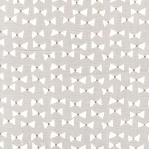 Small Image of Michael Miller Wee Sparkle Bow Ties Cloud With Metallic Cotton Fabric
