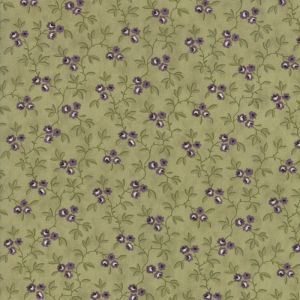 Large Image of Moda Clover Meadow Vines Green Fabric