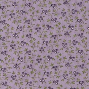 Large Image of Moda Clover Meadow Vines Lilac Fabric