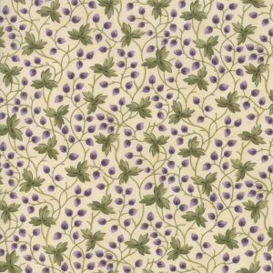 Large Image of Moda Clover Meadow Leaves Ivory Fabric