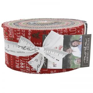 Large Image of Moda Fabric Merry Starts Here Jelly Roll