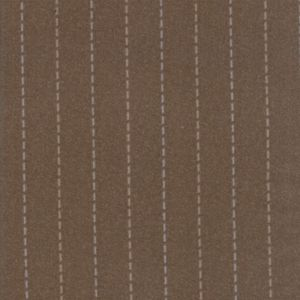 Moda Fabric Farmhouse Flannels Stitch Stripe Brown