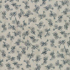 Large Image of Moda Fabric Origami Plum Blossom Pale Grey