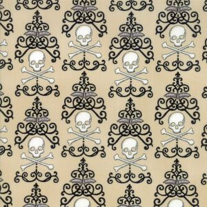 Small Image of Moda Fabric Bewitching Danger Damask Parchment