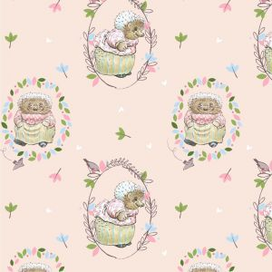 Peter Rabbit Characters Mrs Tiggy Winkle Peach Fabric