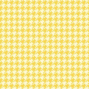 Puddles and Boots Fabric Houndstooth Check Yellow by Diane Rooney