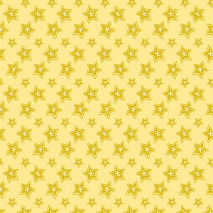 Puddles and Boots Fabric Stars Yellow by Diane Rooney