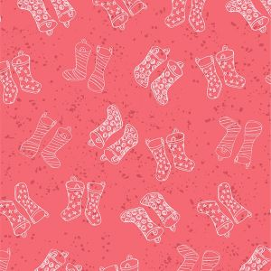 Puddles and Boots Fabric Tossed Wellie Boots Pink by Diane Rooney