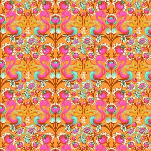 Small Image of Tula Pink Fabric All Stars Begonia Squirrel