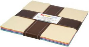 Small Image of Robert Kaufman Ten Square 10 Inch Squares of Kona Cotton Fabric Pastel Colour Palette 42 Pieces