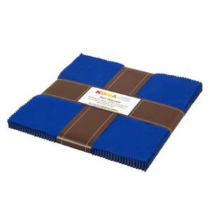 Small Image of Robert Kaufman Ten Square 10 Inch Squares of Kona Cotton Fabric Riviera Blue 42 Pieces Per Pack