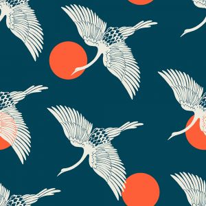 Ruby Star Fabric Florida Egrets Peacock RS2023 12
