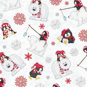 Base Image of Stof Arctic Antics Flannel Quilting Fabric 4740-157