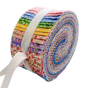 Stof Spiral Ditsy Floral Fabric Strips