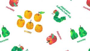 Small Image of Very Hungry Caterpillar Fabric Days of The Week Food